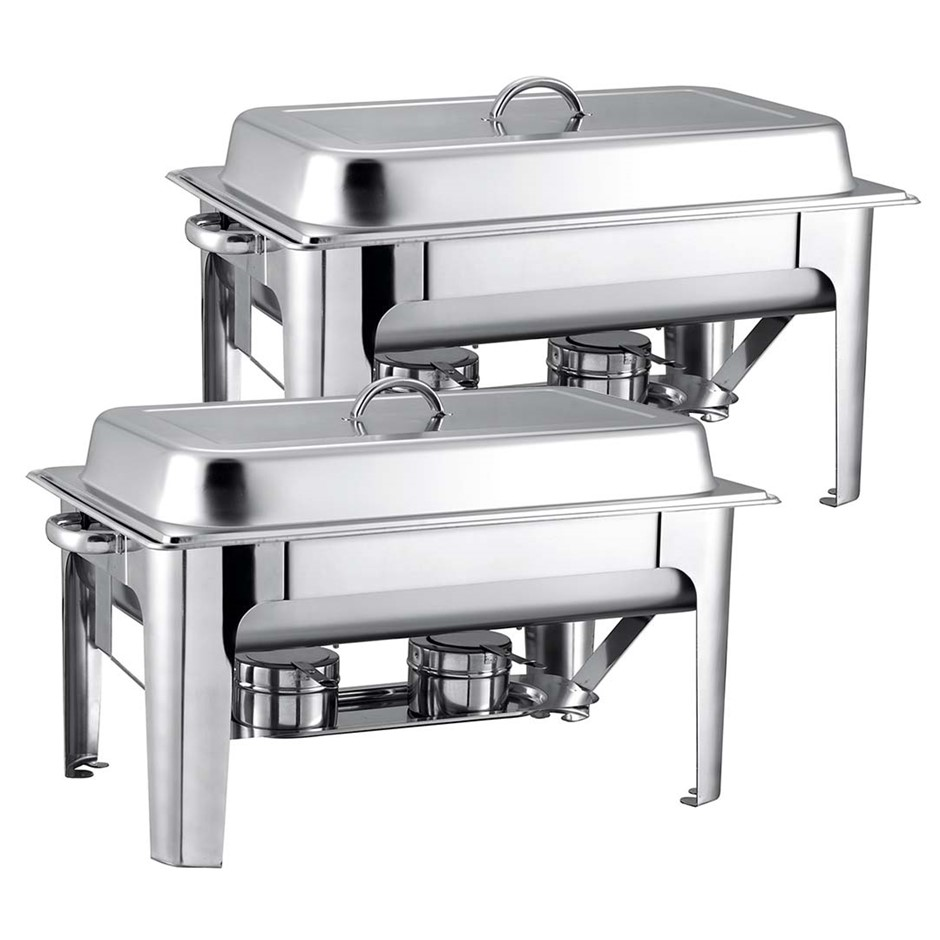 SOGA 2X 9L Stainless Steel Chafing Catering Dish Food Warmer
