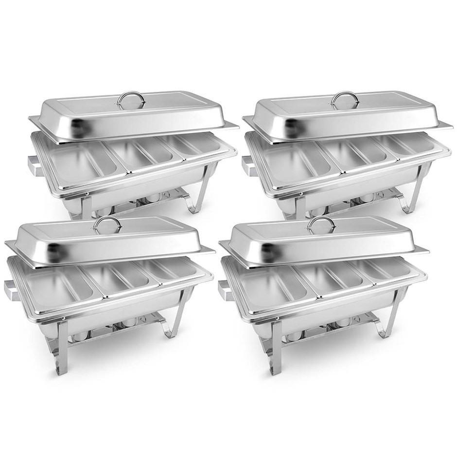 SOGA 4X Stainless Steel Chafing Food Warmer Catering Dish 3*3L Three Trays