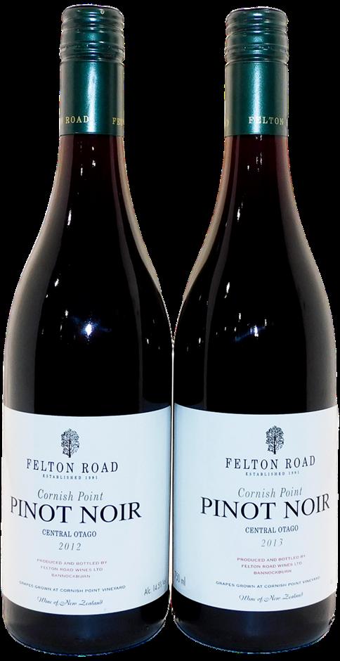 Felton Road Cornish Point Pinot Noir 2012/2013 (2x 750mL) 5* Prov