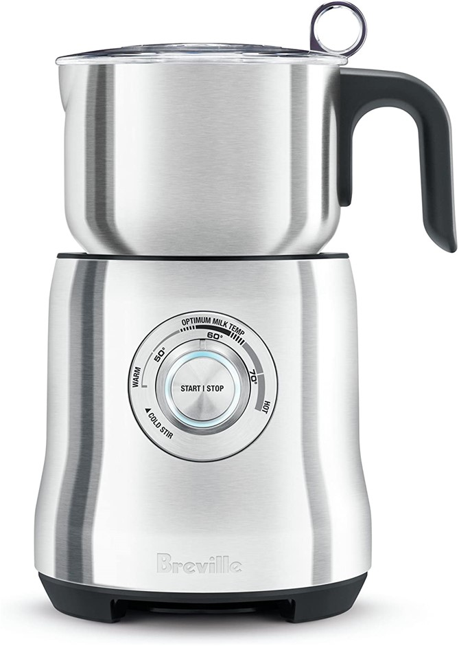 BREVILLE Milk Frother, Colour: Silver, Easy clean, Dishwasher safe stainles