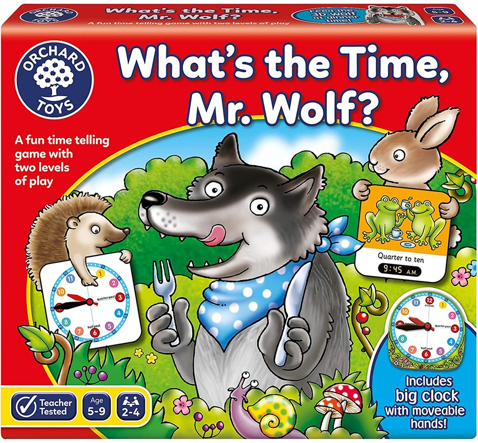 ORCHARD TOYS What`s The Time Mr. Wolf Board Game, Ages 5+. Buyers Note - Di