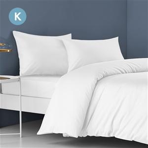 STARRY EUCALYPT King Bed Sheet Set Flat