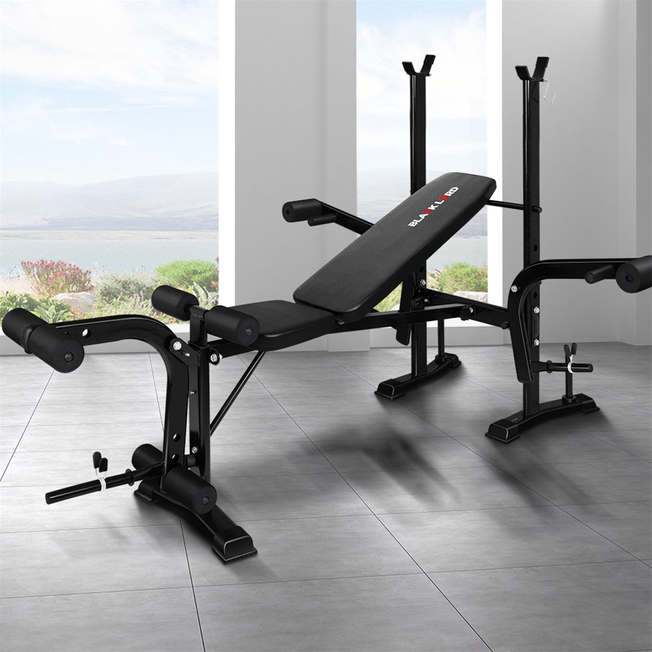 BLACK LORD Weight Bench 8in1 Press Multi-Station Fitness Home Gym Equipment