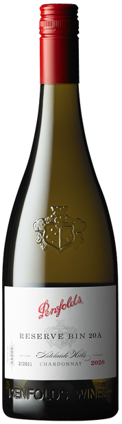 Penfolds Bin A Chardonnay 2020 (6x 750mL). Wooden Box