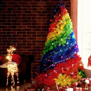 Christmas Tree 2.1m - Rainbow