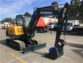 Unreserved Unused 2021 Hyundai HX55N Hydraulic Excavator