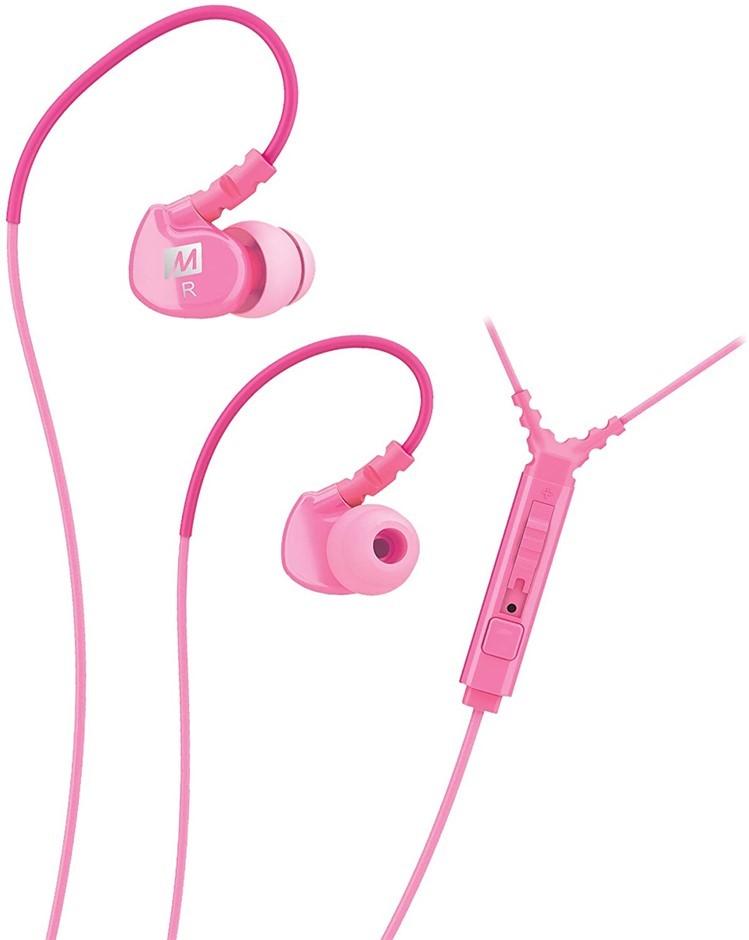 MEE Audio Sport Memory Wire In-Ear Headphones, Pink. Buyers Note - Discount