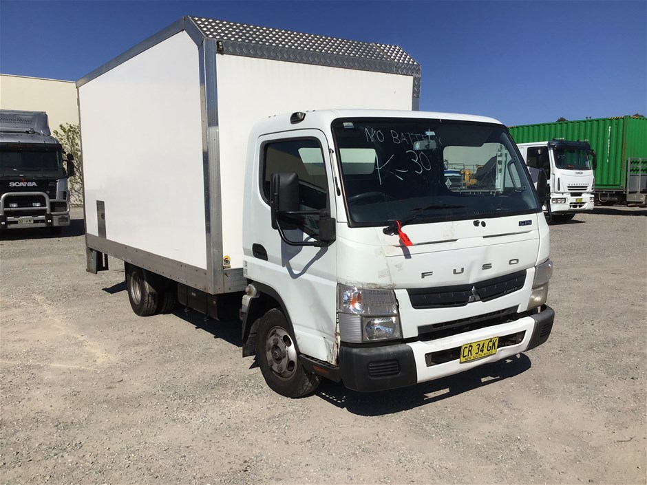 2012 Mitsubishi Canter Fuso 4 x 2 Pantech Truck with Tailgate Loader