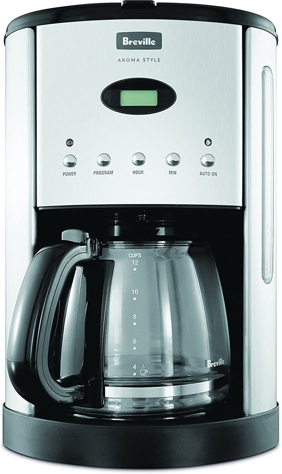 BREVILLE Aroma Style Electronic Coffee Maker, Colour: Black. NB: Minor Use.