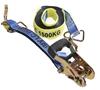 2 x Ratchet Tie Down Assemblies, 35mm x 6M, L/C 1500kg c/w Hook & Keepers,