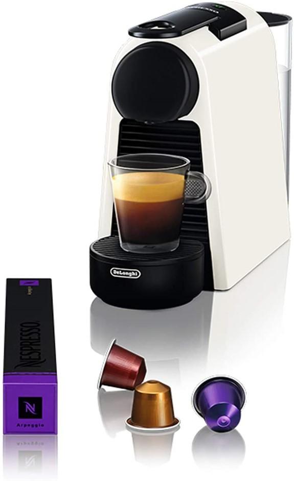 DE'LONGHI Essenza Mini Coffee Machine, Colour: White. Buyers Note - Discoun