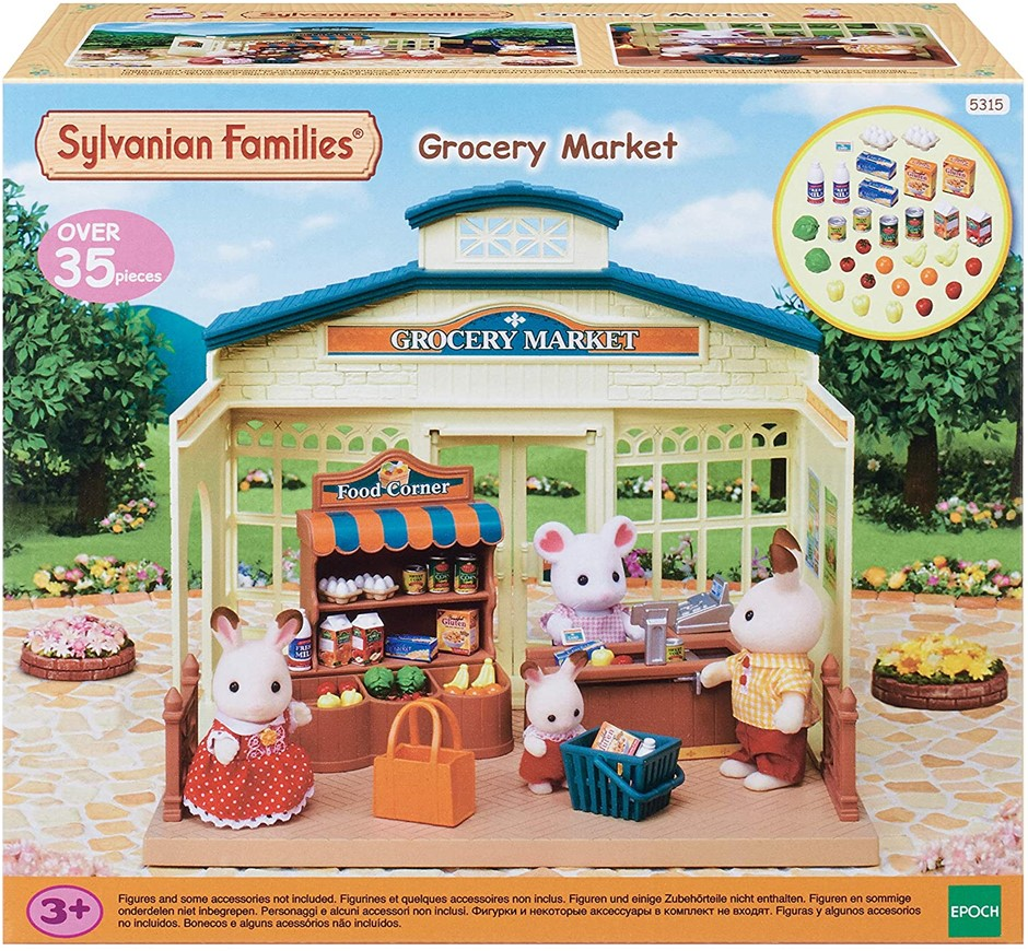 SYLVANIAN Families Grocery Market Playset, Toy For Kids. Buyers Note - Disc