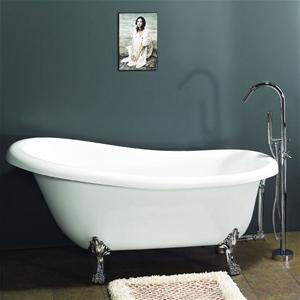 Claw Foot Bath Acrylic Bathtub 1722 Mm