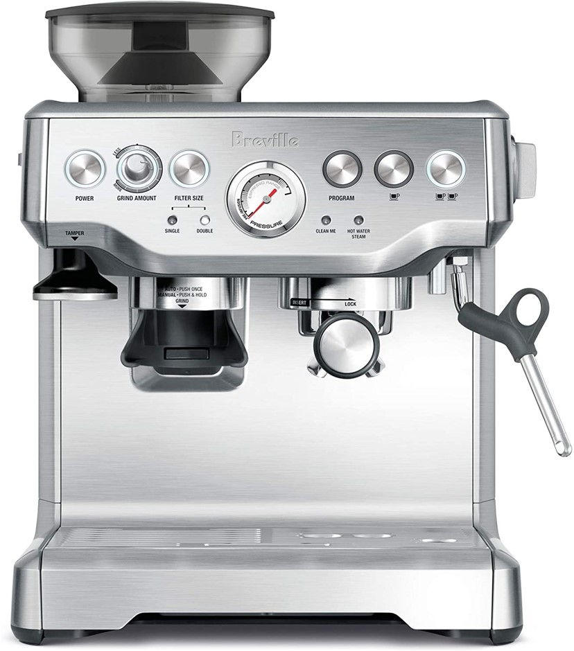 BREVILLE Barista Expresso Machine, Brushed Stainless Steel, Model BES870BSS