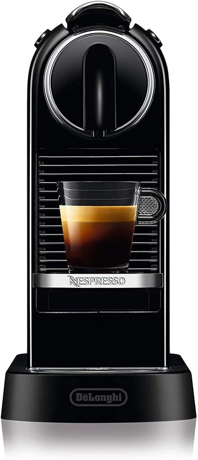 DE'LONGHI Nespresso Citiz Solo Capsule Coffee Machine, Black, Model: EN167B