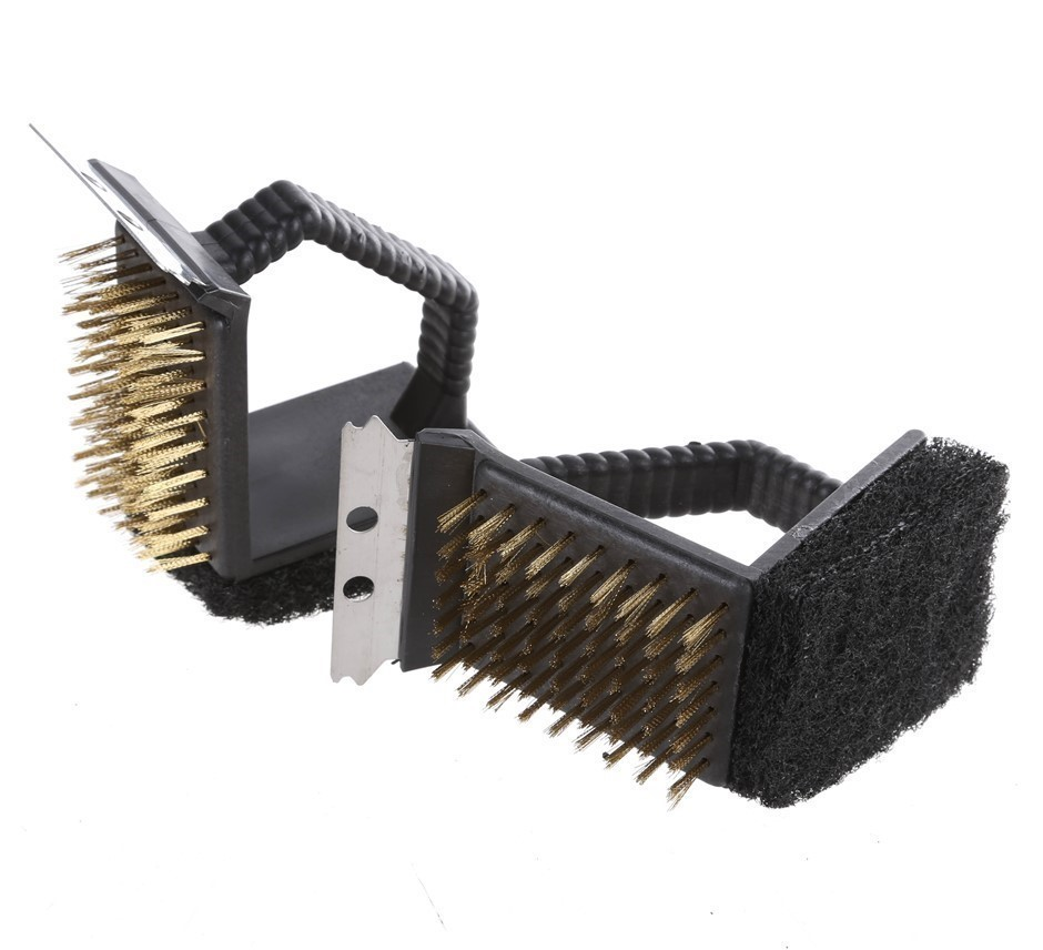 2 x Heavy Duty BBQ Cleaning Brushes 150mm. Buyers Note - Discount Freight R
