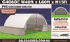 2021 Unused Heavy Duty 40ft x 60ft Container Shelter with End Wall