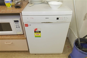 Dishwasher bosch automatic aqua stop stainless steel interior white pow auction 0238 for White dishwasher with stainless steel interior