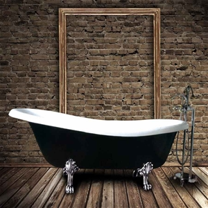 cast iron freestanding bathtub 1700mm auction. Black Bedroom Furniture Sets. Home Design Ideas