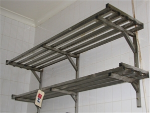 Over Shelf Pot Rack Stainless Steel 2 Tier Wall Mounted Approx