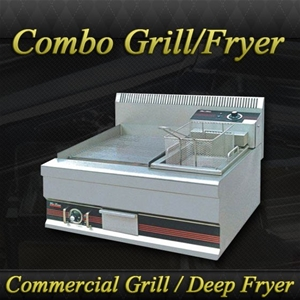 Commercial Benchtop Grill Fryer Combo Unit Auction 0032
