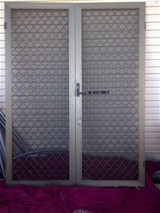 Pair Of Double Security Screen Doors Hinged And With Door