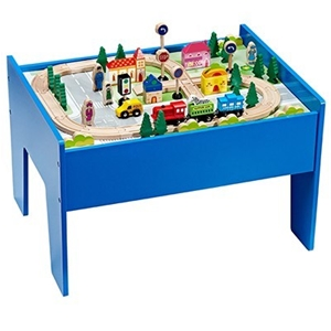 Buy Hongji Toys  Piece Wooden Train Set With Table GraysOnline - Train set table