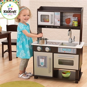 KidKraft Espresso Toddler Kitchen - Brown