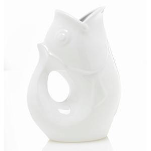 Buy gurglepot stoneware jug 42 oz l large fish shaped white graysonline australia - Gurgling water pitcher ...