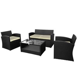 Buy 4 Piece Wicker Rattan Outdoor Furniture Set Graysonline Australia