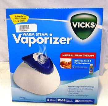 warm steam vaporizer vicks instructions