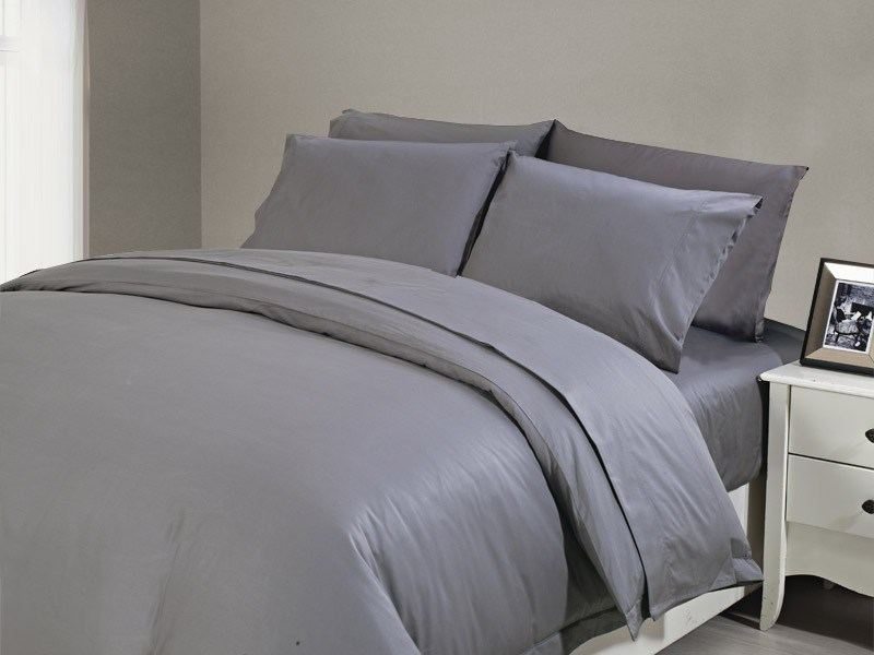 1200 TC Sheet Set Queen Charcoal