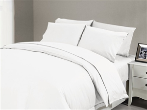 1200 TC Fitted Sheet Single White