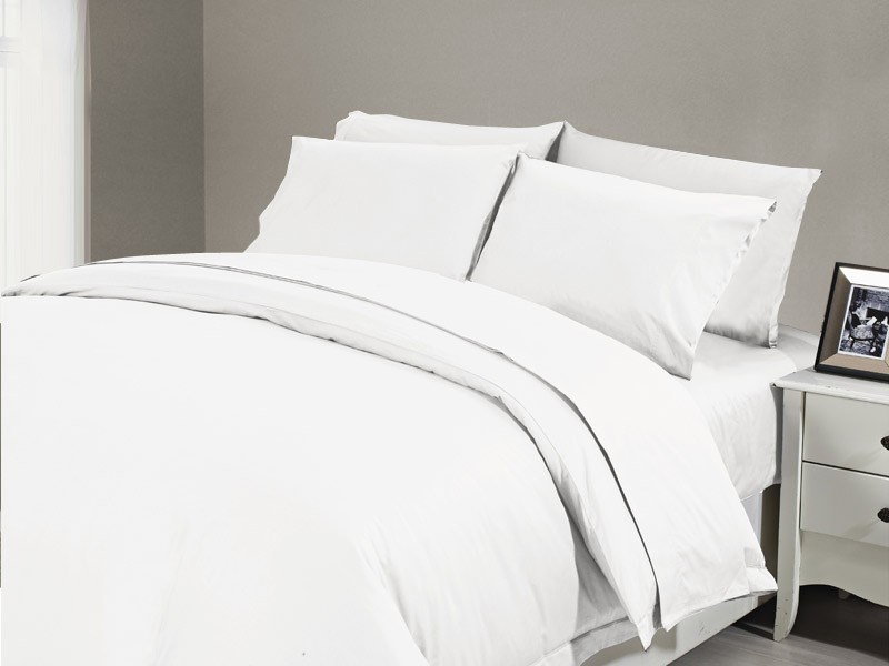 1200 TC Flat Sheet King Single White