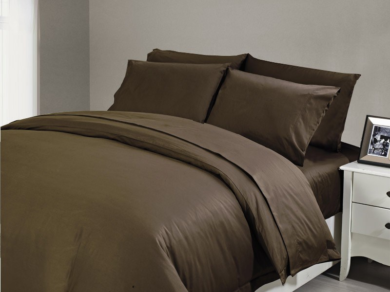 1200 TC Flat Sheet Queen Chocolate