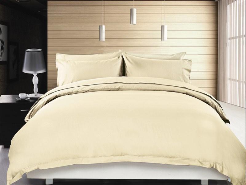 Pure Egyptian Cotton Quilt Cover Set - Single Size - Ivory Colour