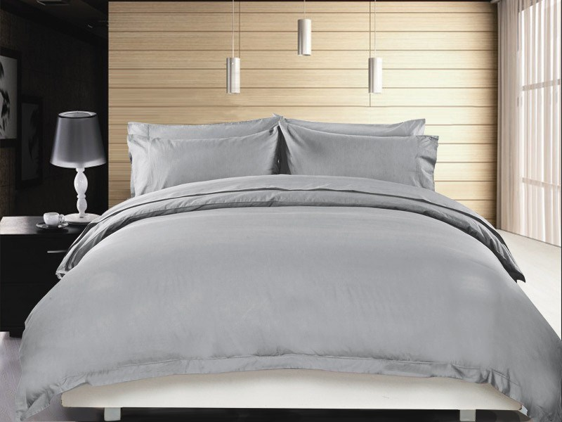 1200 TC Quilt Cover Set Double Grey Mist