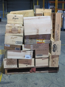 1 pallet of empty wooden wine boxes auction 0002 2414356 for Empty wine crates