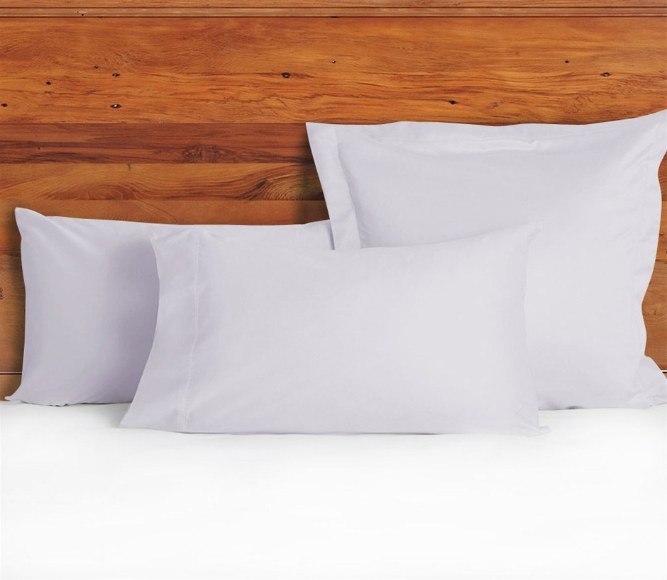 1200 TC Pillow Cases Lilac Mist x 2