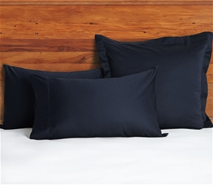 1200 TC Pillow Cases Navy Blue x 2
