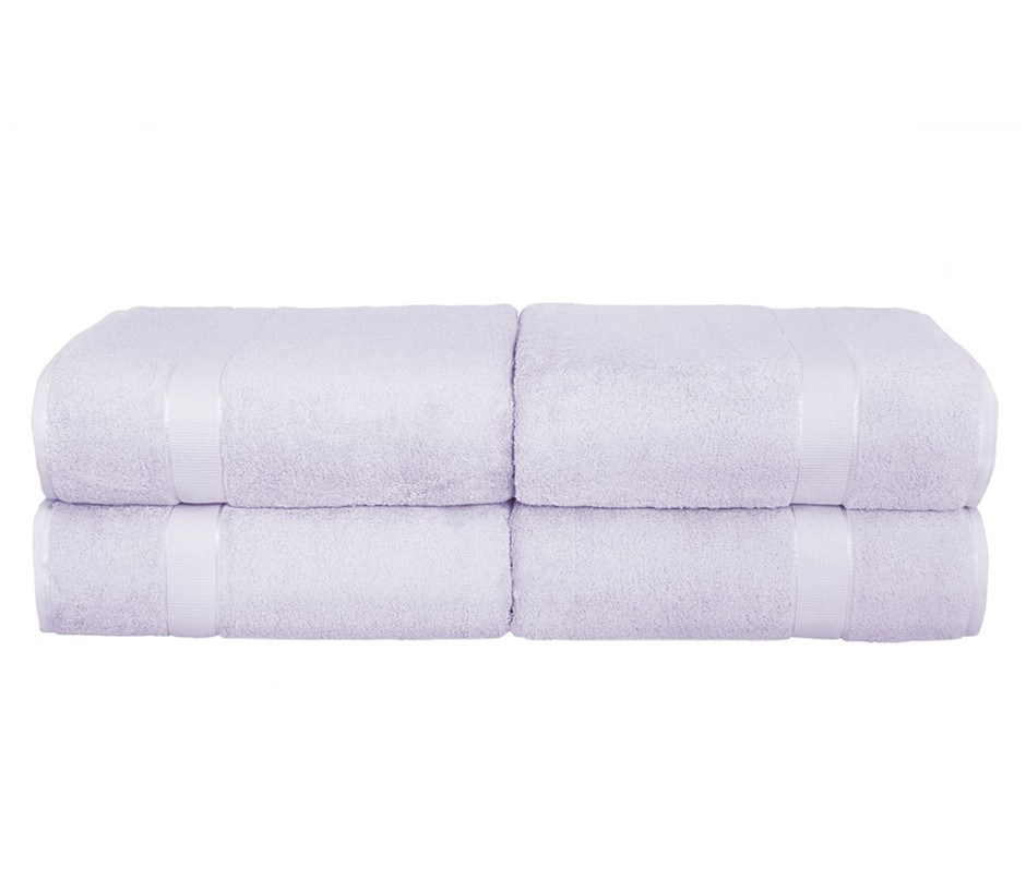 BeddingCo 700GSM Egyptian Cotton 4 Piece Bath Sheet Set - Lilac Mist
