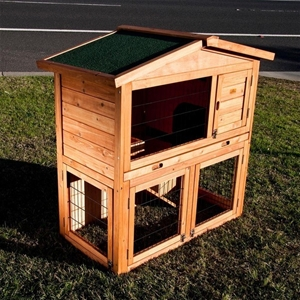 Buy 2 storey rabbit guinea pig cage hutch wire door for Buy guinea pig cage