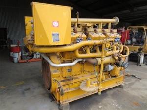 Caterpillar V12 gas engine, Model G398 natural gas