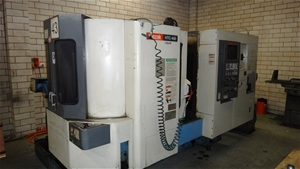 Mazak CNC machining centre, Model HTC-400, Serial No  123383