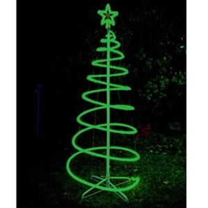 promo code 61b02 a005e 120cm Green Solar LED Spiral Xmas Tree Rope Light