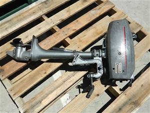 1996 Suzuki 2HP 2 stroke Outboard motor, S/N: 0201-654775, workshop tested