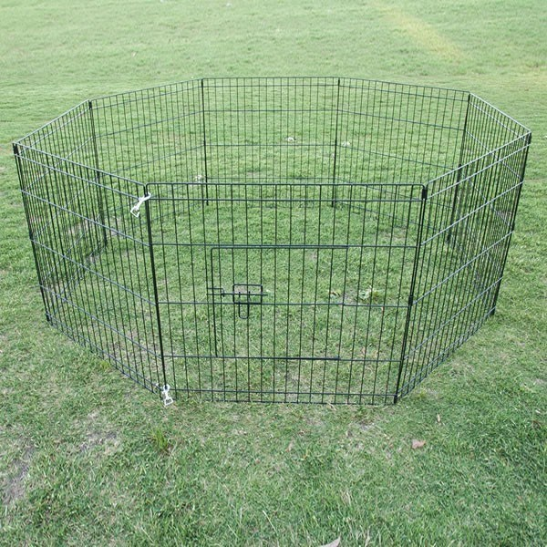 "24"" 8 Panel Pet Playpen Fence Enclosure"