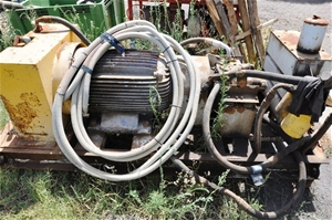 Large Electric Motor With Fitted Hydraulic Power Pack And