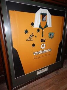 Signed Memorabilia, Australian Rugby Union Jersey, ``Stephen Larkham``, 200