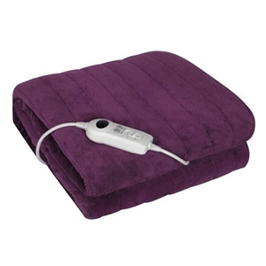Electric Throw Rug 9 Heat Settings Purple
